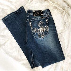 Miss Me Boot Cut Dark Wash Embellished Size 31